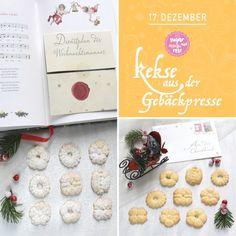 Kekserl-Adventskalender: 24 Keksrezepte zum Downloaden - sugar&rose Bread, Food, Advent Calenders, Brot, Essen, Baking, Meals, Breads, Buns