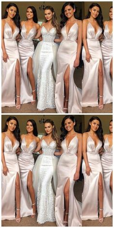 ff09d3360ef Sexy Halter Side Slit Mermaid Long Bridesmaid Dresses Online