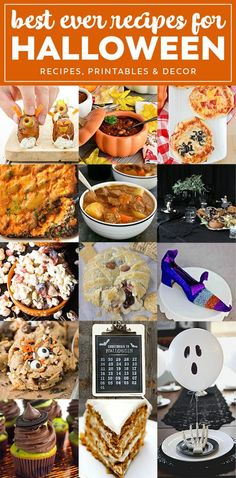 halloween party recipes printables decor