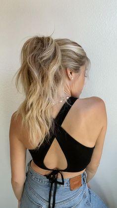 High Ponytail Hairstyles, Hairdos, Updos, Girl Hairstyles, Long Hair, Easy Hair, Hair Hacks, Hair Styles, Locks