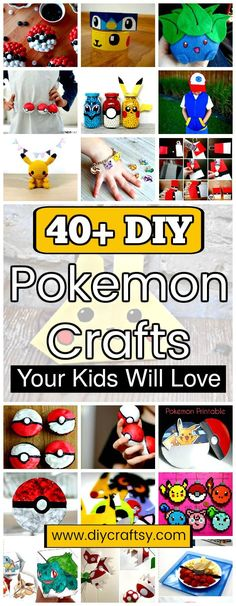 This big pleasing and amazing gift is this collection of 40+ DIY Pokemon Crafts that will offer you the simple décor to home accessories to food recipes