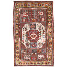 Karachopf Kazak from the Caucasus   See more antique and modern Caucasian Rugs at https://www.1stdibs.com/furniture/rugs-carpets/caucasian-rugs