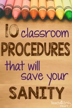 10 Classroom Procedures that Will Save Your Sanity - Teach 4 the Heart Classroom procedures will help my students know my expectations and help the flow of the class run smoothly. Classroom Behavior Management, Classroom Procedures, Classroom Organisation, Teacher Organization, Teacher Tools, Teacher Hacks, Teacher Resources, Classroom Ideas, Future Classroom