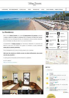 Réalisation du Site Internet VILLAGE CROISETTE à Cannes. Village Croisette propose des locations saisonnières de studios et d'appartements à Cannes pour les congrès ou les vacances.
