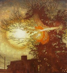 """Frank Webster Rockaway Dawn acrylic on canvas, x ) """"These paintings reference the digital artifacts in amateur photography and the sort of images one sees on social media. I'm interested in the revolution we are watching in photography. Subject Of Art, Nyc Art, Landscape Paintings, Landscapes, American Artists, Dawn, Contemporary Art, Scene, Canvas"""