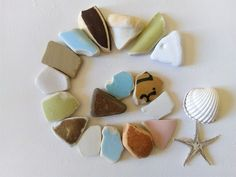 Colorful Beach Pottery, Large Chunky, Porcelain, and Terracotta Shards, 17 Pieces Terracotta, Porcelain, Pottery, Colorful, Sea, Beautiful, Etsy, Ceramica, Porcelain Ceramics