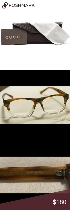 💥NEW LOW PRICE💥Gucci Optical frames 100% Authentic Gucci frames in good condition , Made in Italy . Original Gucci case ,cloth & certificate of authenticity are included . Comes from a smoke & pet free home.   Model # GG1080 Crystal Havana. Gucci Accessories Glasses