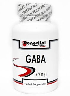 GABA 750mg 100 Capsules ~ Renevitol * Click image for more details.