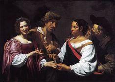 Simon Vouet 1590-1649  - La diseuse de bonne aventure, v.1618, HT, 120x170, Ottawa, Musee des BA du Canada