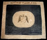 Stones River Hardee Pattern battle flag of the 6th and 7th Arkansas.