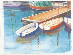 Secrets to Painting Water in Watercolor on http://www.artistsnetwork.com Painting reflections in water with Penny Soto