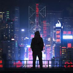 I was commissioned by 2 music producers, Akkad, to create a cyberpunk night cityscape similar to an older work of mine, Concrete Jungle. Arte Cyberpunk, Cyberpunk Aesthetic, Cyberpunk City, City Aesthetic, Futuristic City, Parkour, Urban Photography, Street Photography, Cover Design