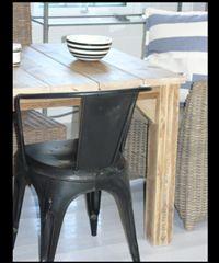 slottsbord med frittstående ben - plankene på tvers