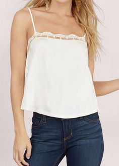 Strap Shirt Stitching Lace Small Vest For Women Summer Sexy Tank Tops 2016 New Fashion Casual Street With High Quality Crop Top Halter, Long Sleeve Crop Top, White Camisole Top, Crop Tops, Tank Tops, New Fashion, Lace, Casual, Spring Fashion