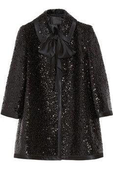Marc Jacobs Sequin-embellished wool coat | NET-A-PORTER