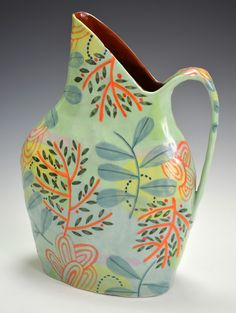 Nancy Gardner / Ceramic Pitcher / #ceramics #handmade