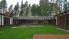 Säynätsalo, Finland Scandinavian Architecture, Alvar Aalto, Town Hall, Finland, Sidewalk, Deck, Outdoor Decor, Image, Home Decor