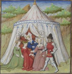 Vers 1420, Guiron le Courtois BNF folio 215r