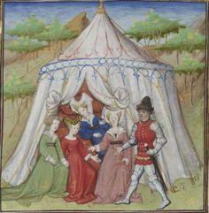 Vers 1420, Guiron le Courtois BNF folio 215r