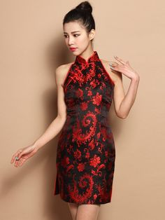 Custom Tailored Floal Silk Qipao / Cheongsam Dress