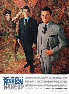 Vintage Men's Fashion Ad by retro-space, via Flickr. Creepin' up.