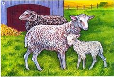 ovce Cute Baby Animals, Farm Animals, Animals And Pets, Farm Pictures, Animal Pictures, Farm Quilt, Sheep And Lamb, Coq, Small Art