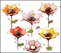 3D flowers ... would look great on a garden stake!