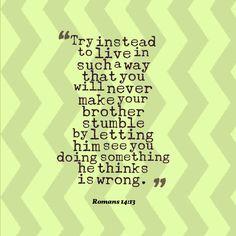 Don't be a stumbling block
