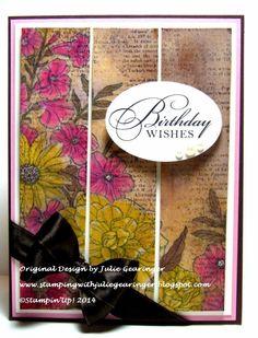 Stamping with Julie Gearinger: CC492 Corner Garden Birthday Wishes