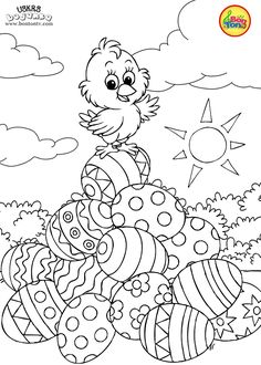 Easter coloring pages - Uskrs bojanke za djecu - Free printables, Easter bunny, eggs, chicks and more on BonTon TV - Coloring books Easter Coloring Sheets, Spring Coloring Pages, Free Adult Coloring Pages, Cute Coloring Pages, Coloring Easter Eggs, Free Printable Coloring Pages, Coloring Pages For Kids, Coloring Books, Free Printables