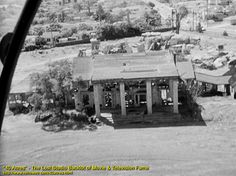 Gone With The Wind's Tara mansion in ruins on the 40 Acres backlot, circa 1959