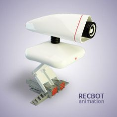 Robot design 3D animation – Recbot- by silvanuno.com