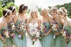 Love the dresses and bouquets