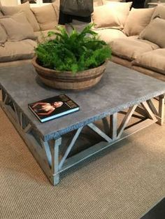 Rough Cut Bluestone Slab Coffee Table Mecox Interiordesign Mecoxgardens Furniture Shopping