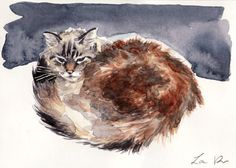 Custom Pet Portrait 8 x 10 ORIGINAL Watercolor Painting Your Cat Dog Bird Horse Pet Parent Love