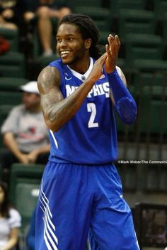 Memphis Tiger, Shaq Goodwin motivates his teammates   during the semi-final game v. LSU at the Old Spice Classic. 11/29/13