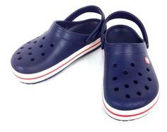 CROCS-Shoes-BLUE-Trendy-COMFORT-Slingback-ATHLETIC-Slides-RUBBER-Womens-9-M