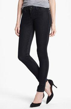DL1961 'Emma' Textured Stripe Skinny Jeans (Pandora) available at #Nordstrom