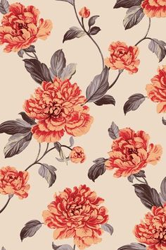 Vintage Floral Print  | floral | | floral print and patterns | http://www.thinkcreativo.com/