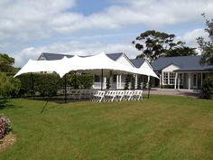 The glorious front lawn at Abbeville Estate - this rig was for our lovely client's ceremony before they danced the night away