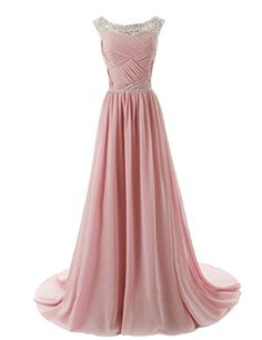 a3b17d881cf Dressystar Beaded Straps Bridesmaid Prom Dress with Sparkling Embellished  Waist at Amazon Women s Clothing store