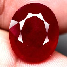 12.32 Ct.15.7x13mm. Luxurious! Natural Ruby Oval Facet Top Blood Red Madagascar #Gemnatural