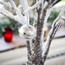 12 Silver Jingle Bells Baubles