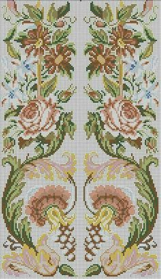 Russian Cross Stitch, Mini Cross Stitch, Cross Stitch Rose, Cross Stitch Flowers, Cross Stitch Charts, Cross Stitch Patterns, Cross Stitching, Cross Stitch Embroidery, Hand Embroidery