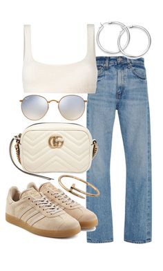 """""""Untitled #21983"""" by florencia95 ❤ liked on Polyvore featuring Ray-Ban, Brock Collection, Yeezy by Kanye West, Gucci, Cartier and adidas Originals"""