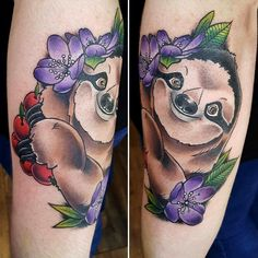 Sloth by Kat Paine. Hidden hand studio, Belfast #evamigtattoos #tattoo