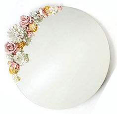 Plaster dipped flowers - make a romantic mirror or other things like a picture frame, jewelry box... I could see a lot of applications for this.