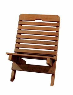 Amish Cedar Fisherman's Folding Chair Perfect gift for the fisherman in your family. Made with aromatic red cedar wood that resists decay. Folds easily. Made by the Amish in Indiana. #DutchCrafters