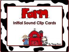 $0-Farm Theme:  Initial Sound Clip Cards from Teaching With Nancy  on TeachersNotebook.com -  (13 pages)