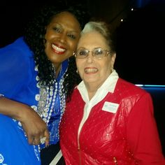 With Roz, the house manager of the Bob and Carol Kaye Performing Arts Center in Boca Raton Florida!